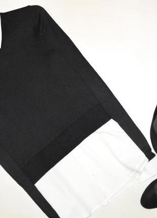 Свитер, джемпер с имитацией рубашки hallhuber, в составе шелк и кашемир