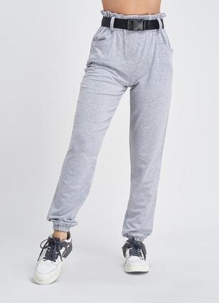 Трикотажные брюки с высокой посадкой 9978