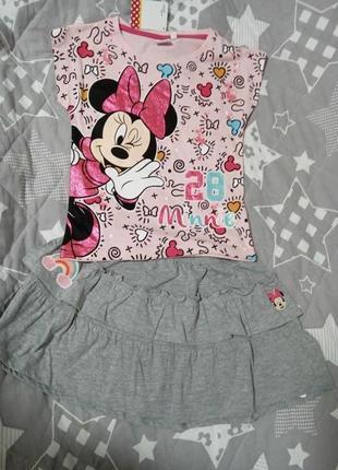 Костюм minnie mouse 8 лет (128 см) футболка + шорты