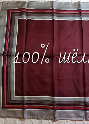 🎀 платок классичсекий принт 100% шёлк