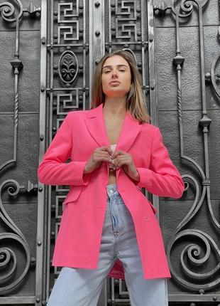 Пиджак оверсайз из итальянской костюмной ткани