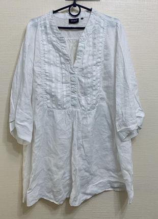 Льняная блуза рубашка