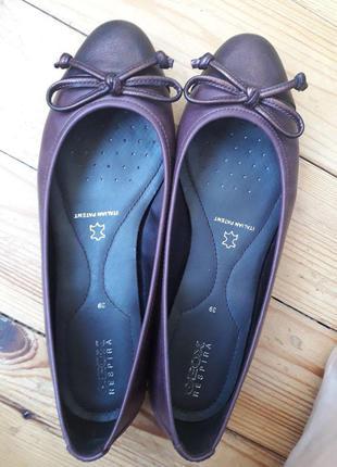Geox балетки кожаные