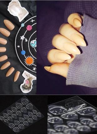 Комплект накладных ногтей 24 шт. с специальными стикерами в комплекте