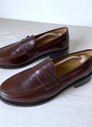 Туфли слипоны samuel windsor кожа ручная работа