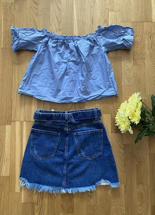 Женская джинсовая юбка bershka2 фото