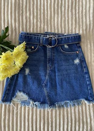 Женская джинсовая юбка bershka
