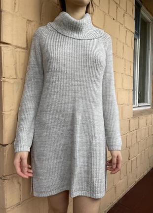 Удлиненные вязаный свитер