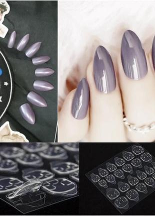 Накладные ногти 24 шт. с специальными стикерами в комплекте