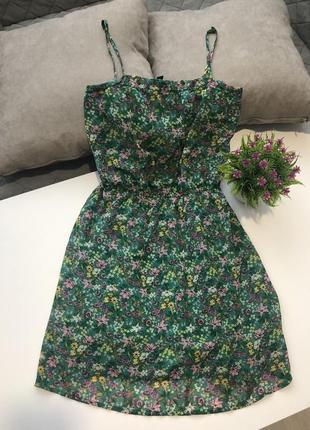 Зеленое платье в цветочек!
