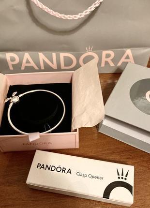 Новый браслет pandora сердце с крыльями . размер 19. оригинал.