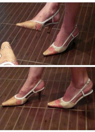 Valentino летние туфли лодочки босоножки классика кожа р.36 стелька 22 см италия