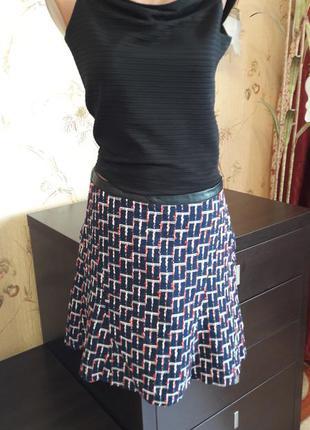Юбка с принтом  h&m (огромный выбор пиджаков)