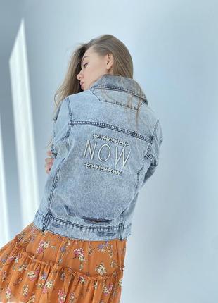 Джинсова куртка жіночий піджак оверсайз7 фото