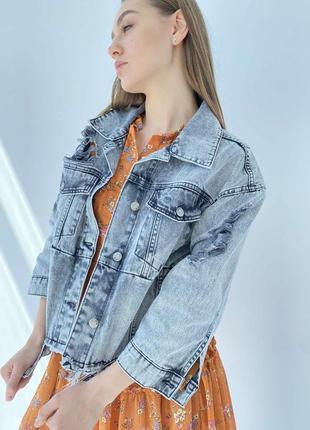 Джинсова куртка жіночий піджак оверсайз3 фото