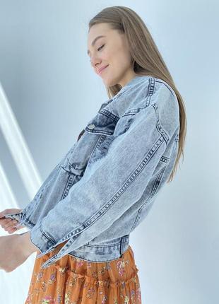 Джинсова куртка жіночий піджак оверсайз2 фото