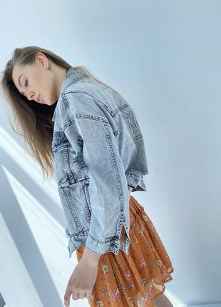 Джинсова куртка жіночий піджак оверсайз6 фото