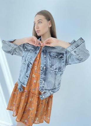 Джинсова куртка жіночий піджак оверсайз4 фото