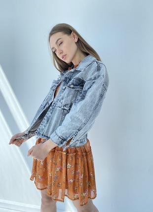 Джинсова куртка жіночий піджак оверсайз8 фото