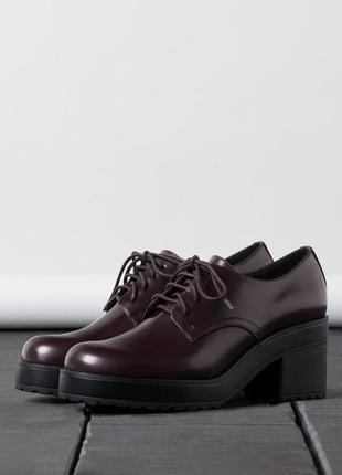 Крутые туфли оксфорды bershka