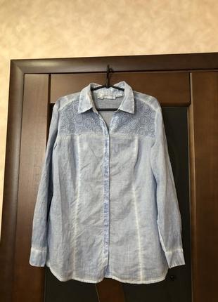 Актуальная хлопковая рубашка дорогого бренда amy vermont р-р 50-52 наш