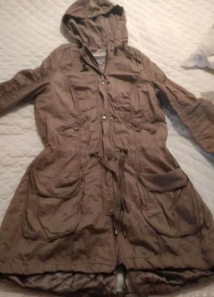 Куртка-парка с тонкой подкладкой