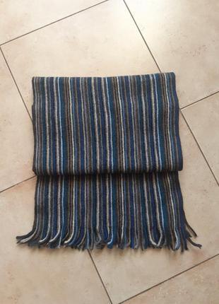 Шарф в полоску,шарф шерстяной