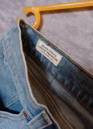 Джинсовая юбка levi's premium (levis, левайс , левис) оригинал4 фото