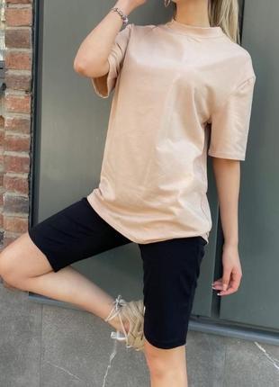 Базовый женский  комплект на лето футболка и велосипедки