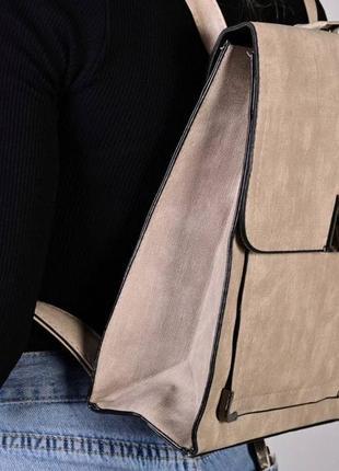 Рюкзак - сумка эко кожа 264223 grey