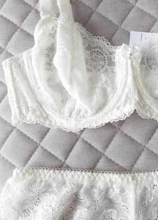 Красивое молочное белье жасмин.🌸
