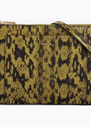 Лаковая сумка кросс-боди планшет parfois питон, португалия