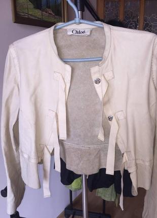Кожа куртка chloe1 фото