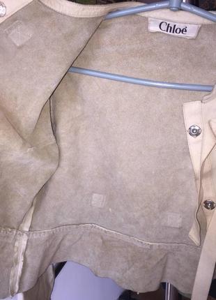 Кожа куртка chloe3 фото