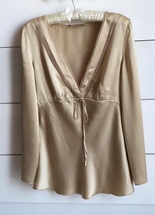 Шелковая блуза в бельевом стиле. натуральный шёлк. блуза мокрый шелк oui set
