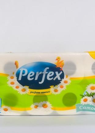 Туалетная бумага perfex deluxe ромашка, 10шт  3 слоля