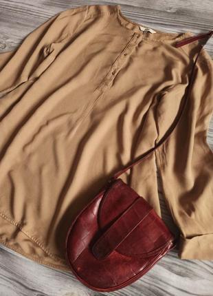 Нюдовая блузка батал из 💯 вискозы от next
