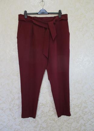 Зауженные брюки со складками/с поясом