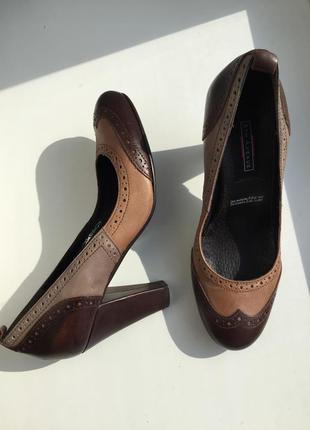 Кожаные туфли 5th avenue 38 размер, натуральная кожа