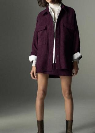 Стильный костюм от zara (рубашка+юбка)