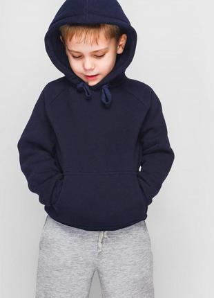 Синий худи, кофта с капюшоном, детский худи, худи для мальчика, кофта для мальчика