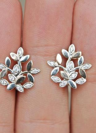 Серебряные серьги с золотом анаис