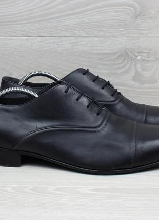 Кожаные мужские туфли / оксфорды lanvin italy оригинал, размер 46