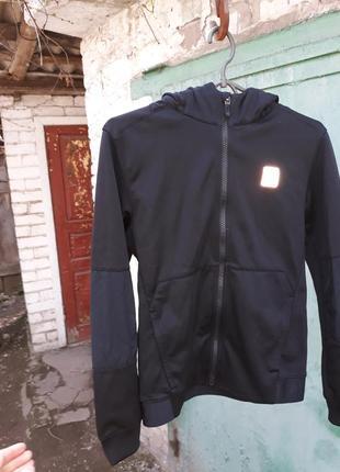 Базовое чёрное зип-худи, толстовка, кофта nike air max (оригинал) на 12-13 лет