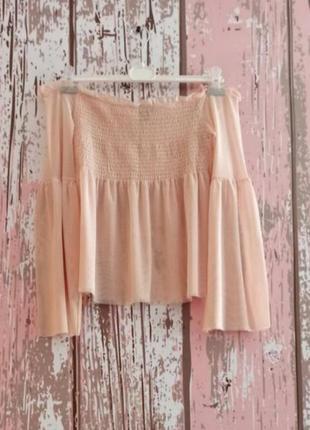 Блуза сеточка с открытыми плечами