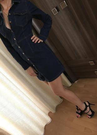 Красивое джинсовое платье s