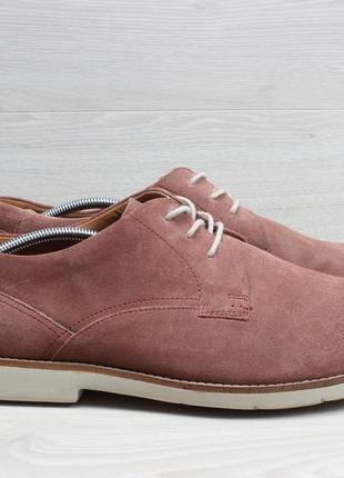 Легкие мужские туфли clarks extralight, размер 47 (замшевые)