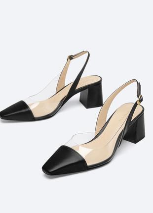 Кожаные туфли от uterque оригинал новые 2021