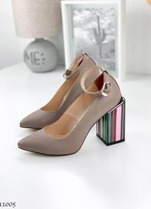 Туфли =nikart=,  цвет: беж-визон, натуральная кожа