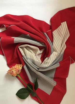 Контрастный шелковый платок schweitzer handdruck 😍